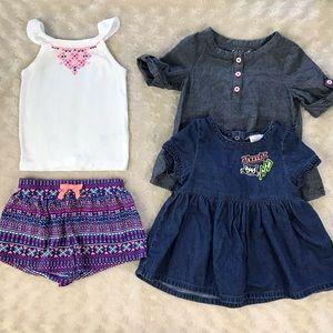 Baby Girl Bundle Carter's Outfit Cat & Jack